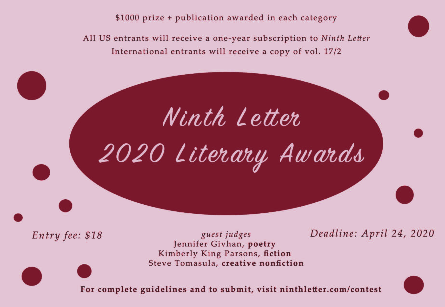 2020 Literary awards announcement