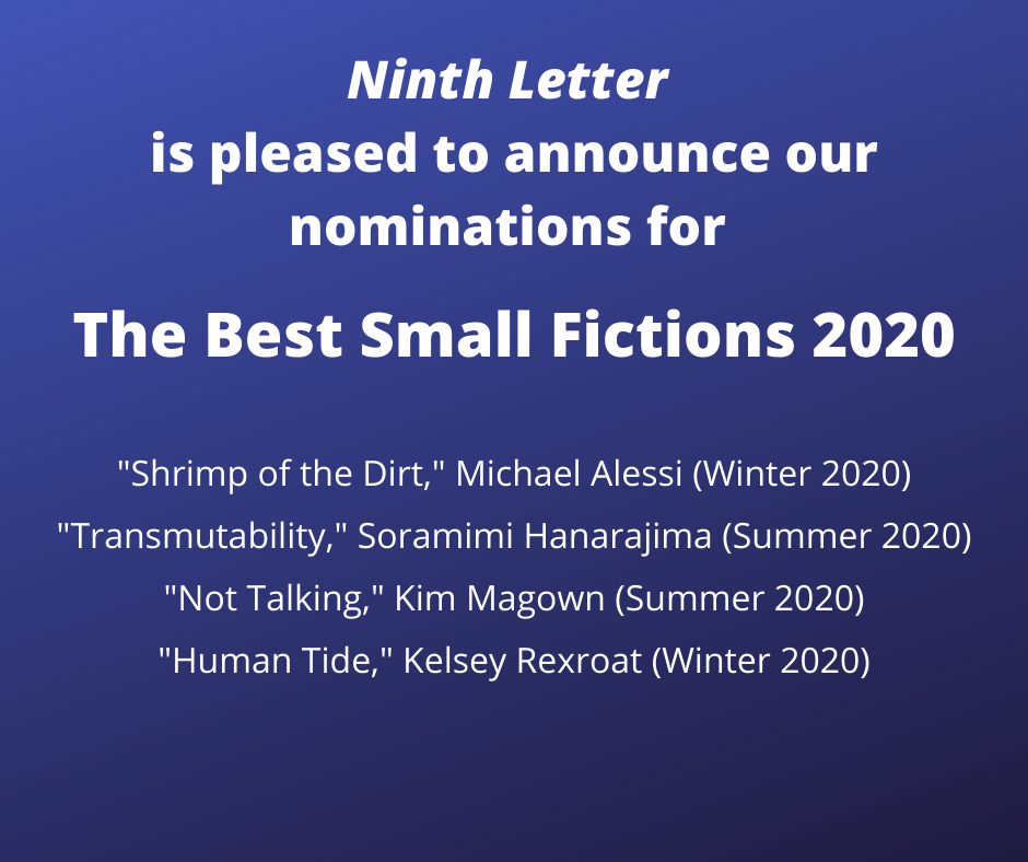 text: Ninth Letter announces Best Small Fiction nominations